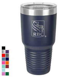 Polar Camel 30 oz. Navy Blue Ringneck Vacuum Insulated Tumbler w/ Clear Lid