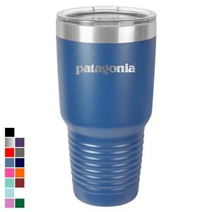 Polar Camel 30 oz. Royal Blue Ringneck Vacuum Insulated Tumbler w/ Clear Lid