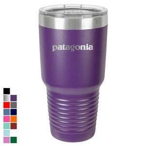Polar Camel 30 oz. Purple Ringneck Vacuum Insulated Tumbler w/ Clear Lid