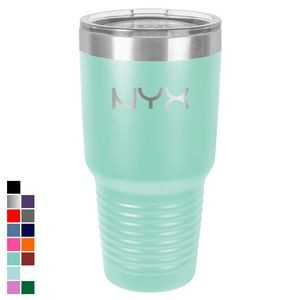Polar Camel 30 oz. Teal Ringneck Vacuum Insulated Tumbler w/ Clear Lid
