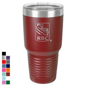 Polar Camel 30 oz. Maroon Ringneck Vacuum Insulated Tumbler w/ Clear Lid